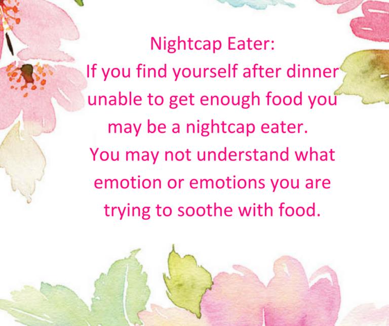 reasons for emotional eating - nightcap