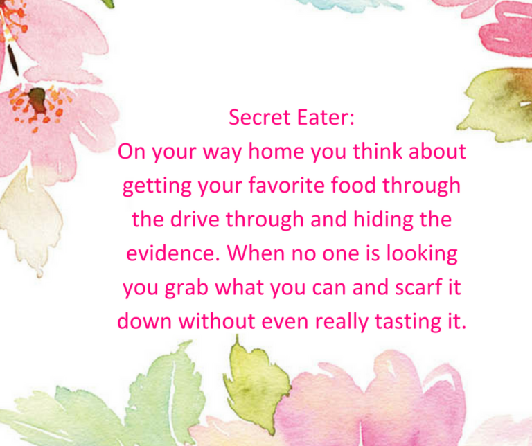 reasons for emotional eating - secret eaters