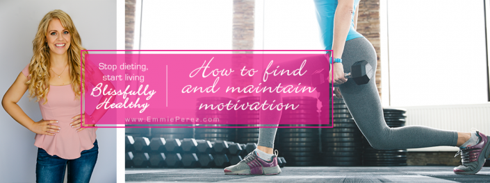 Find and maintain the motivation to lose weight